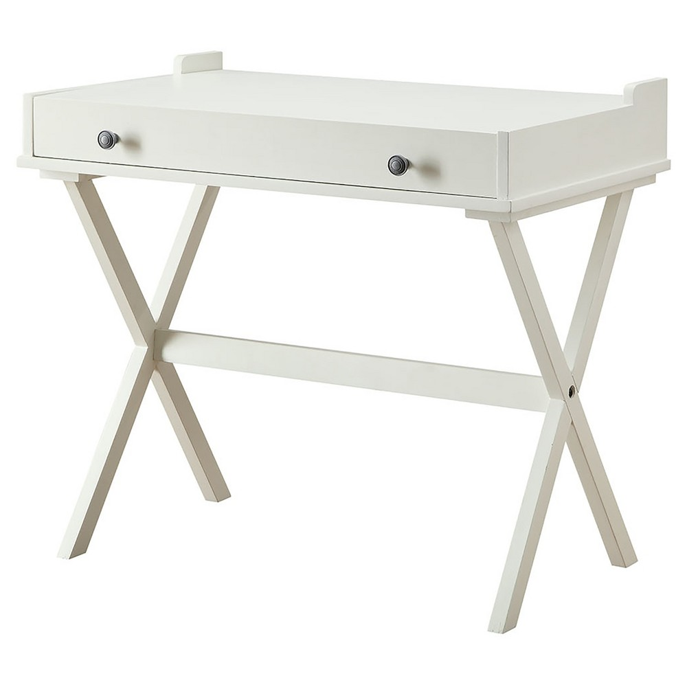 Image of Linnea Flip Top Desk Chair and Table Antique White - Carolina Cottage