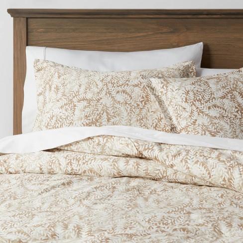 Reversible Neutral Botanical Family-Friendly Comforter & Sham Set - Threshold™ - image 1 of 4