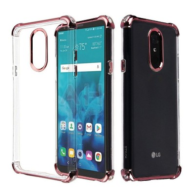 ASMYNA For LG Stylo 4/Stylo 4 Plus Clear Rose Gold Klarion Candy TPU Case