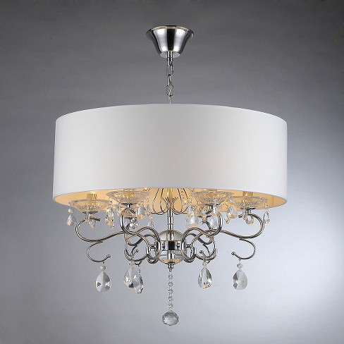 Warehouse Of Tiffany Chandelier Ceiling Lights -Silver/White : Target