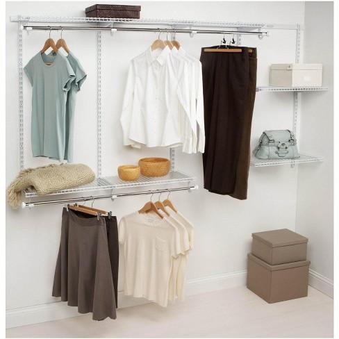 Rubbermaid Configurations 4 8 Feet Custom Diy Closet Organizer Kit White Target