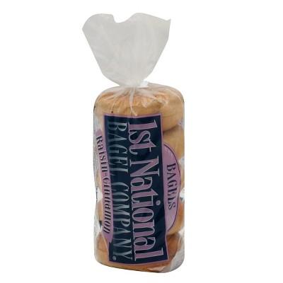 1st National Cinnamon Raisin Bagels - 5ct