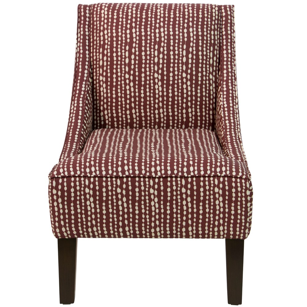Swoop Arm Chair - L-e Dot Holiday Red Oga - Skyline Furniture