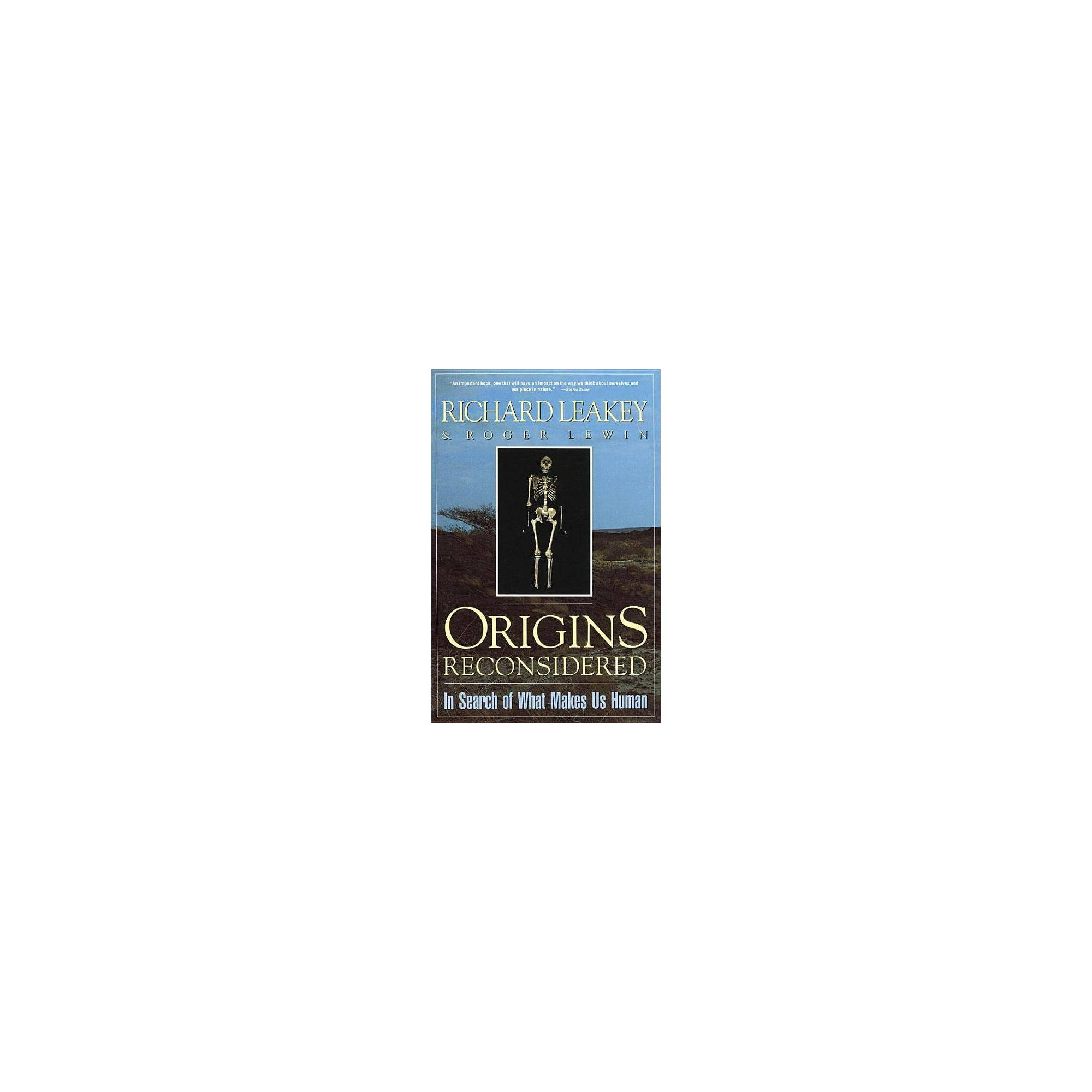 Origins Reconsidered - by Richard E Leakey (Paperback)