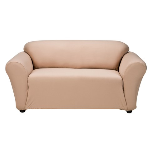 Tan Casual Home Stretch Twill Loveseat Slipcover - image 1 of 1