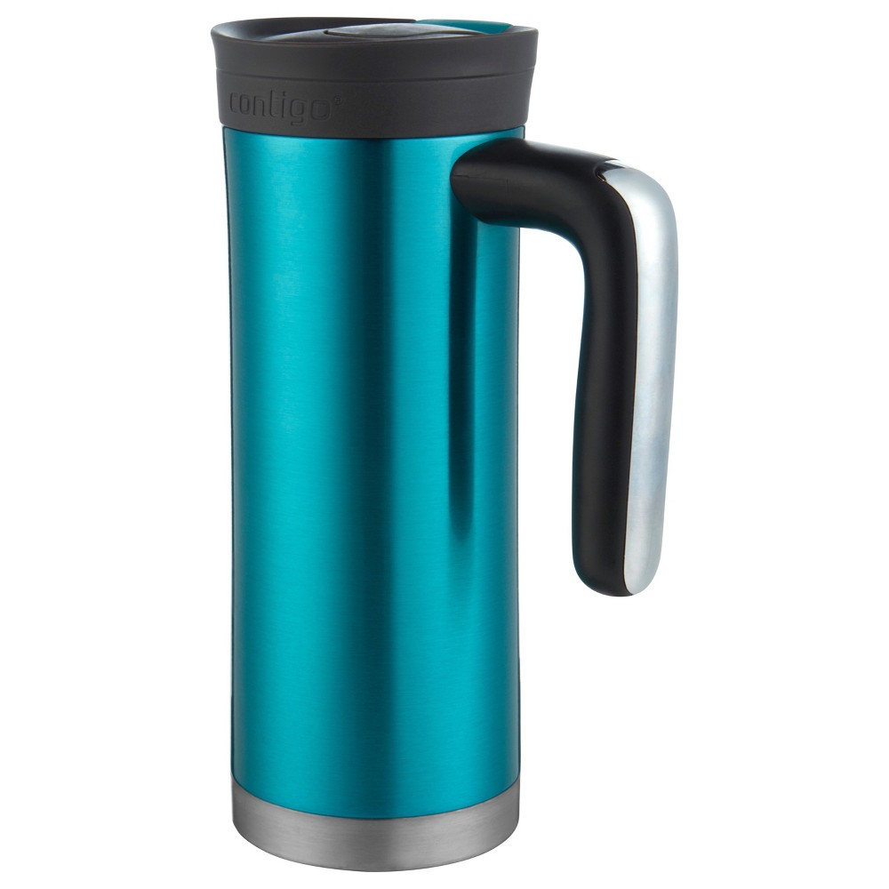 Image of Contigo Snapseal 20oz Superior Insulated Stainless Steel Travel Mug with Handle Blue