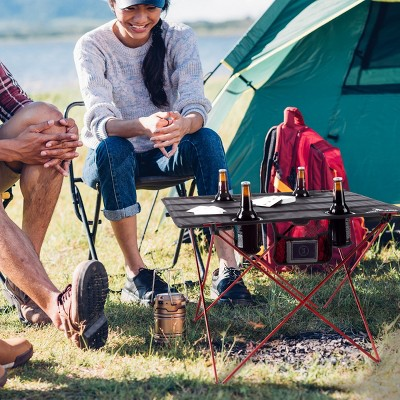 Leisure Sports Outdoor Folding Camp Table With Carry Bag - Black