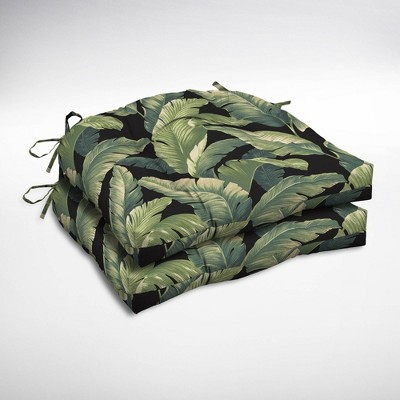 2pk Cebu Wicker Chair Cushions Onyx   Arden Selections : Target