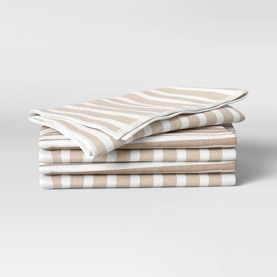 5pk Cotton Kitchen Towels Taupe - Threshold™