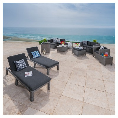 Puerta 13pc Wicker Patio Set - Christopher Knight Home