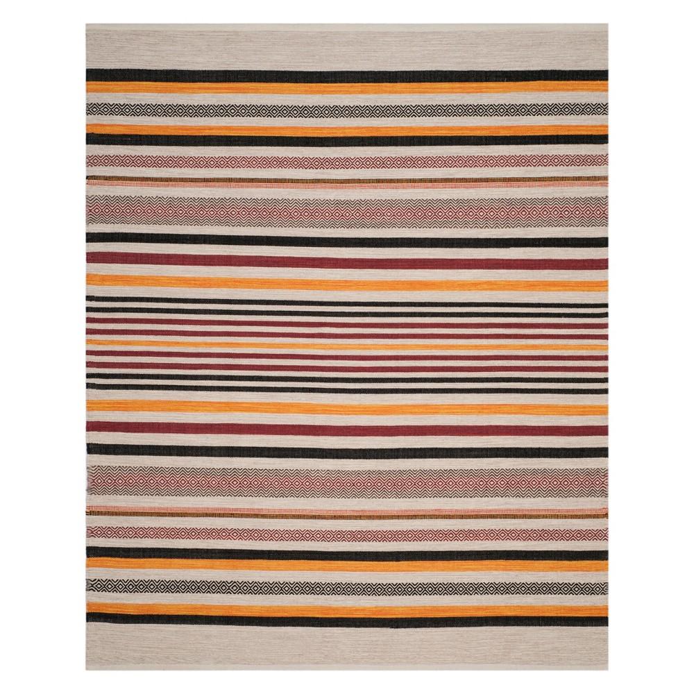 8'X10' Stripe Woven Area Rug Red - Safavieh