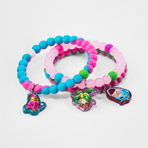Girls' Shopkins 3pc Charm Bracelet Set - image 1 of 1