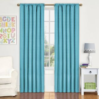 """42""""x54"""" Kendall Blackout Thermaback Curtain Panel Turquoise - Eclipse My Scene"""