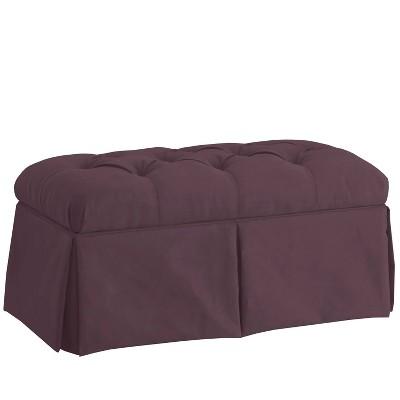Kids' Microfiber Skirted Storage Bench Purple - Skyline Furniture