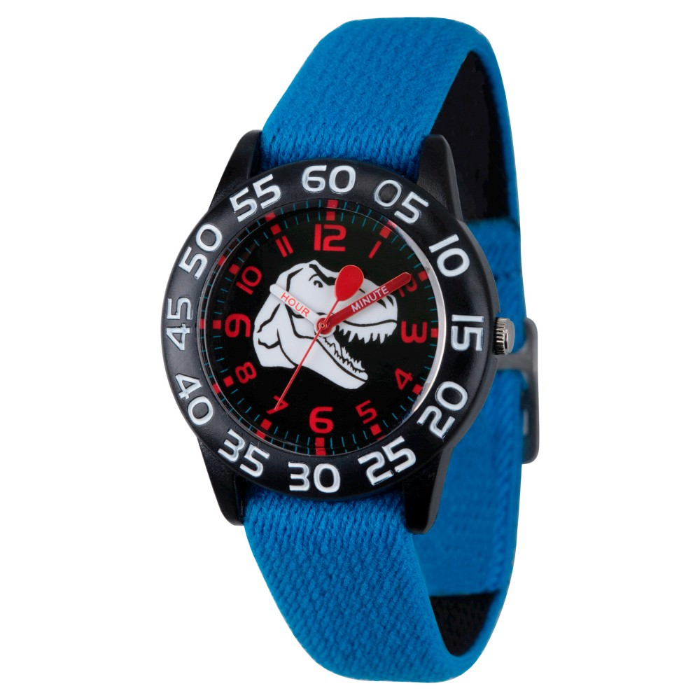 Image of Boys' Red Balloon Black Plastic Time Teacher Watch - Blue, Boy's