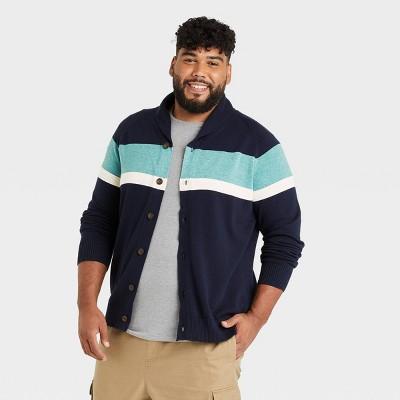Men's Big & Tall Regular Fit Shawl Cardigan Sweater - Goodfellow & Co™
