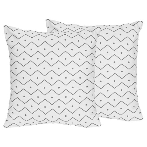 Gray & White Throw Pillow - Sweet Jojo Designs® - image 1 of 1