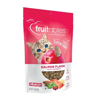 Fruitables Salmon Flavor with Cranberry Crunchy Cat Treats - 2.5oz