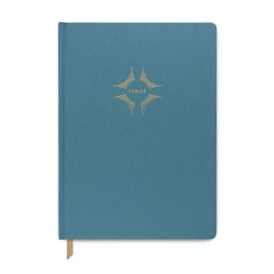 """Hardcover Cloth Journal 7.2"""" x 10"""" Imagine Teal - Designworks"""