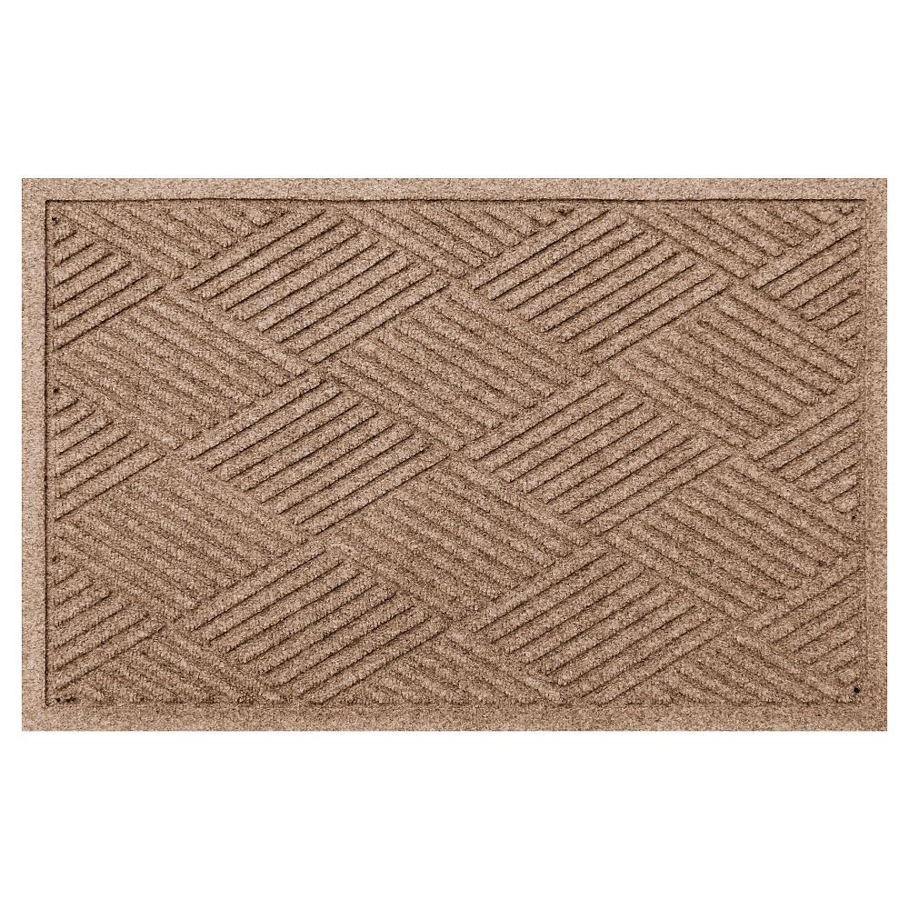 Medium Brown Solid Doormat - (2'X3') - Bungalow Flooring