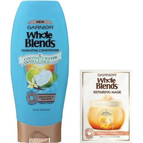 Garnier Whole Blends Coconut Water & Vanilla Milk Extract Hydrating Hair Conditioner & Repairing Mask - 12.5 fl oz - image 1 of 3