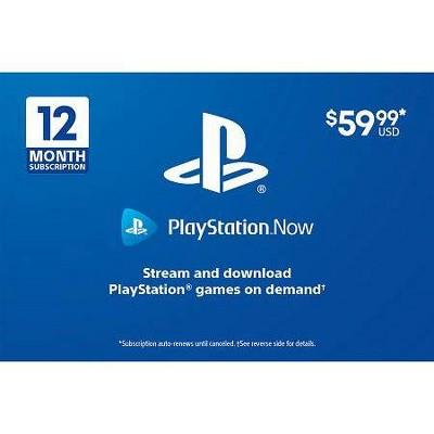 PlayStation Now Membership Gift Card (Digital)