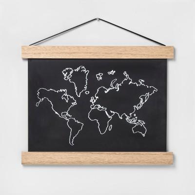 World Map Hanging Banner (14 x18 x0.5 )- Pillowfort™
