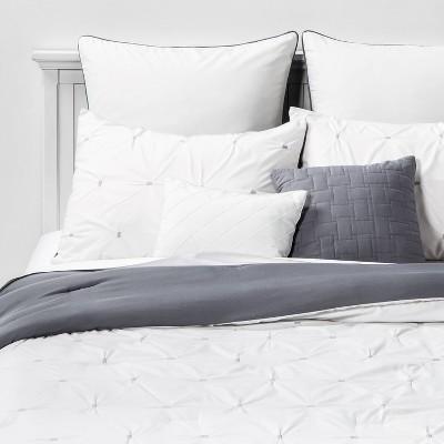 Queen Solid Jessamy Comforter & Sham Set White