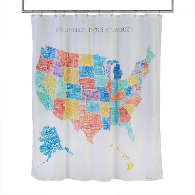 United States Map Shower Curtain - SKL Home