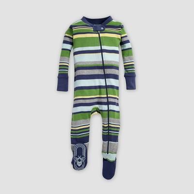 Burt's Bees Baby® Baby Boys' Stripe Organic Cotton Sleeper - Indigo 3-6M