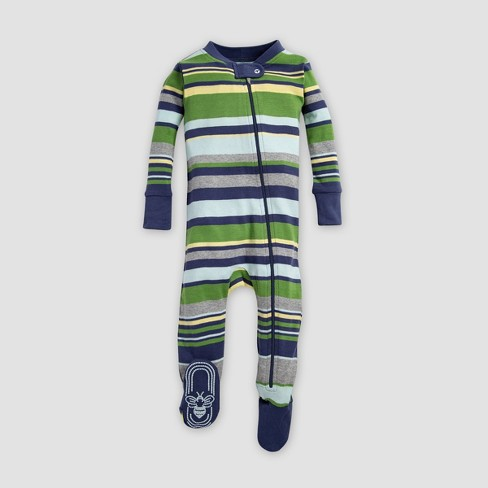 f71c56da5 Burt's Bees Baby® Baby Boys' Stripe Organic Cotton Sleeper - Indigo ...