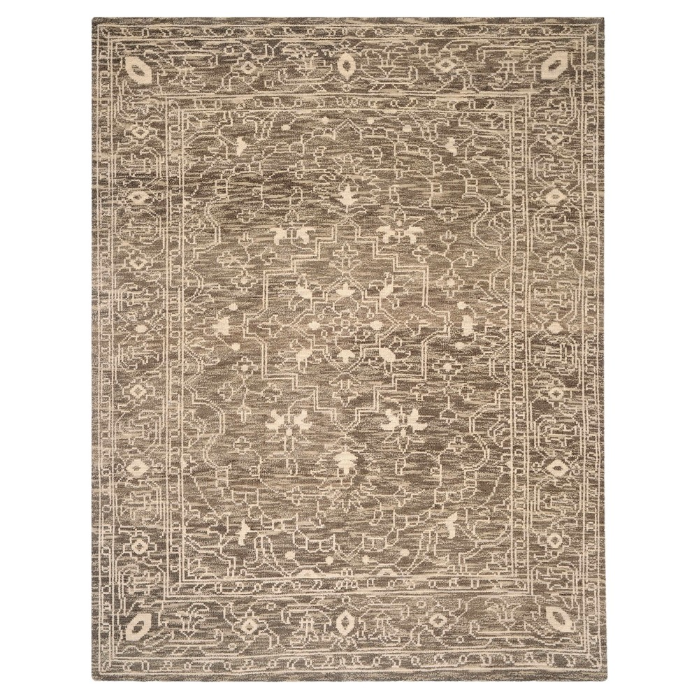 Brown/Beige Solid Knotted Area Rug - (9'X12') - Safavieh