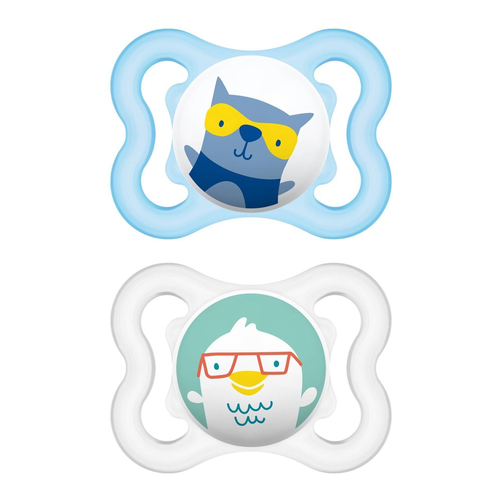 Image of MAM Mini Air Pacifier 0-6 Months - 2ct Blue