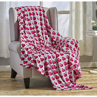 "Valentine's Day Heart Collection Ultra Plush & Comfy Throw Blanket (50"" x 60"")"