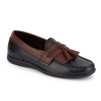 Dockers Mens Landrum Leather Dress Casual Tassel Loafer Shoe