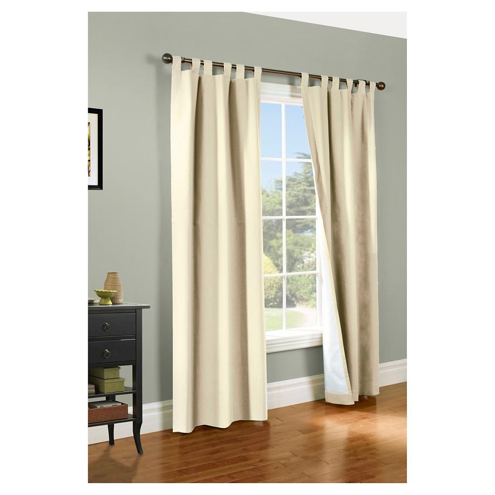 "Image of ""80""""x84 Set of 2 Weathermate Tab Top Room Darkening Curtain Panel Natural - Thermalogic"""