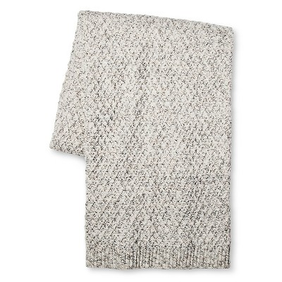 Throw Blanket Marled Sweater Knit Gray/Cream - Threshold™