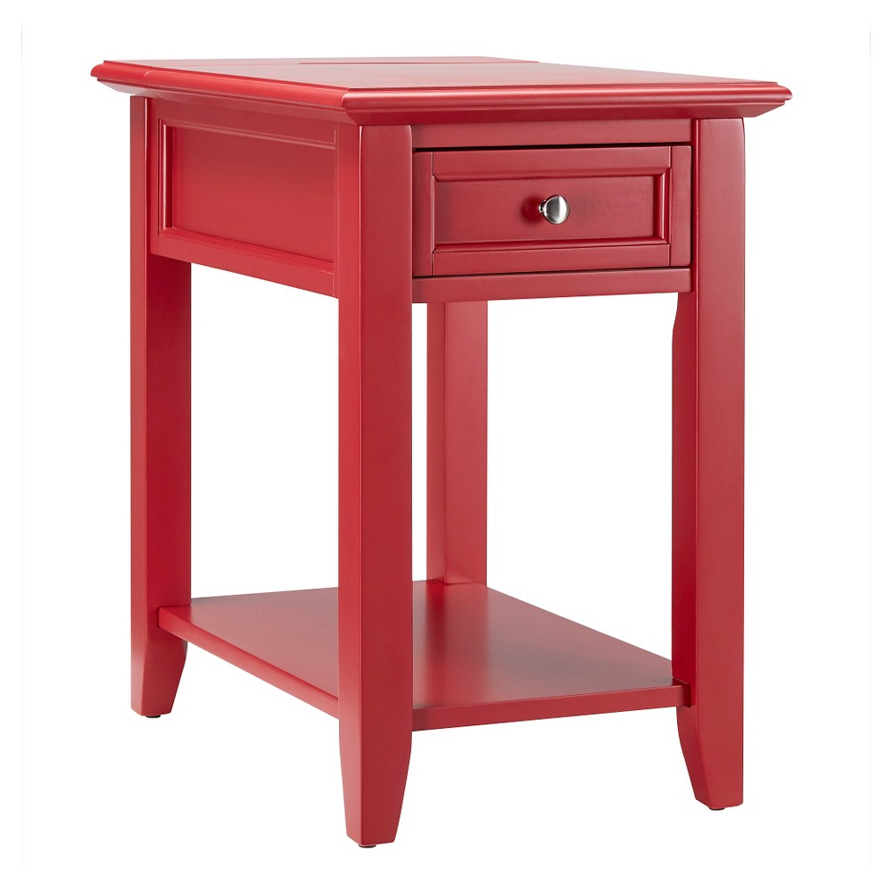 Resnick Accent Table with Hidden Outlet - Heirloom - Inspire Q