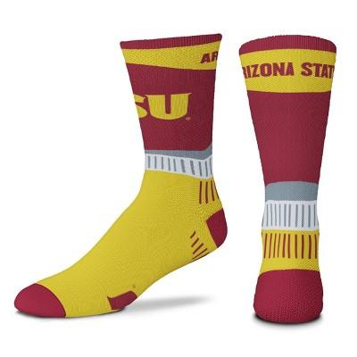 NCAA Arizona State Sun Devils Men's Sport Fan Crew Socks - 10-13