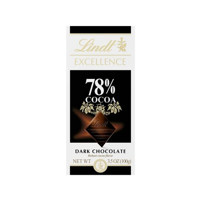 Lindt Excellence 78% Cocoa Dark Chocolate - 3.5oz