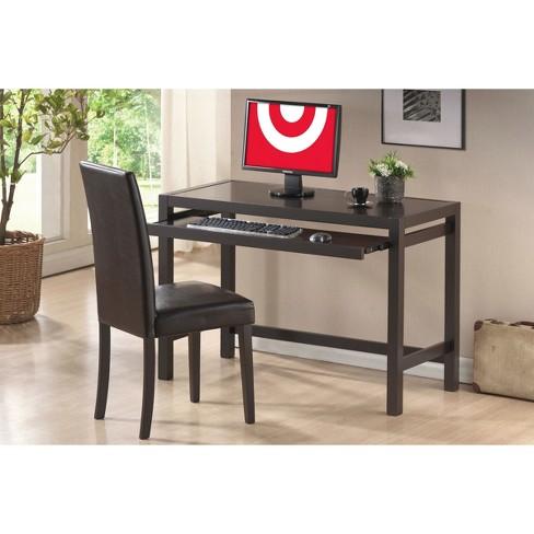 Astoria Modern Desk And Chair Set Dark Brown Baxton Studio