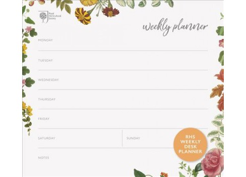 RHS Weekly Desk Planner (Paperback) - image 1 of 1