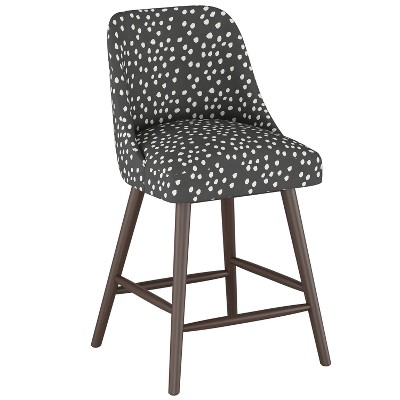 "27"" Geller Modern Counter Height Barstool Scribble Dot Dark Gray - Project 62™"