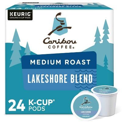 Caribou Coffee Lakeshore Blend Keurig K-Cup Coffee Pods - Medium Roast - 24ct