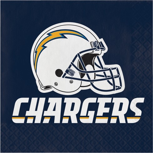16ct Los Angeles Chargers Napkins : Target