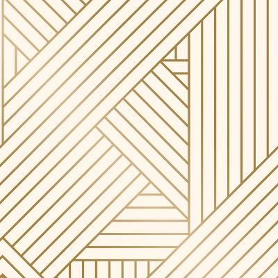 Metallic Ribbon Peel & Stick Wallpaper Gold/Ivory - Project 62™