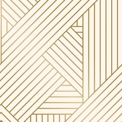 Metallic Ribbon Peel & Stick Wallpaper Gold/Ivory - Project 62™
