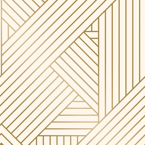 Ribbon Peel And Stick Wallpaper Gold/Ivory - Project 62™ - image 1 of 4