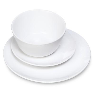 Coupe 12pc Dinnerware Set White - Room Essentials™