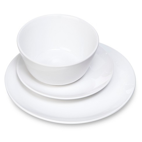 Coupe 12pc Dinnerware Set White Room Essentials